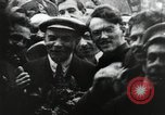 Image of Bolshevik leader Vladimir Lenin celebrated at Red Square Moscow Russia Soviet Union, 1917, second 6 stock footage video 65675056594