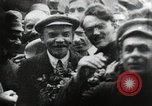 Image of Bolshevik leader Vladimir Lenin celebrated at Red Square Moscow Russia Soviet Union, 1917, second 9 stock footage video 65675056594