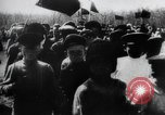Image of march by demonstrators Russia, 1917, second 2 stock footage video 65675056599