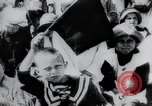 Image of march by demonstrators Russia, 1919, second 7 stock footage video 65675056599
