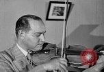 Image of David Fyodorovich Oistrakh  playing violin Moscow Russia Soviet Union, 1946, second 11 stock footage video 65675056632