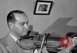 Image of David Fyodorovich Oistrakh  playing violin Moscow Russia Soviet Union, 1946, second 12 stock footage video 65675056632