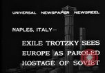 Image of Soviet Leader Leon Trotsky Naples Italy, 1937, second 2 stock footage video 65675056639