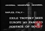Image of Soviet Leader Leon Trotsky Naples Italy, 1937, second 3 stock footage video 65675056639