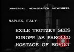 Image of Soviet Leader Leon Trotsky Naples Italy, 1937, second 4 stock footage video 65675056639