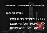 Image of Soviet Leader Leon Trotsky Naples Italy, 1940, second 1 stock footage video 65675056646
