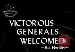 Image of Army Generals return Los Angeles California USA, 1945, second 2 stock footage video 65675056674