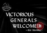 Image of Army Generals return Los Angeles California USA, 1945, second 4 stock footage video 65675056674