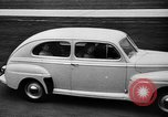 Image of first Ford model year 1946 cars Detroit Michigan USA, 1945, second 10 stock footage video 65675056677