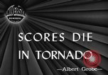 Image of damages by tornadoes Alabama United States USA, 1945, second 1 stock footage video 65675056700