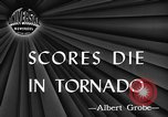 Image of damages by tornadoes Alabama United States USA, 1945, second 2 stock footage video 65675056700