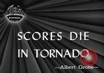Image of damages by tornadoes Alabama United States USA, 1945, second 4 stock footage video 65675056700