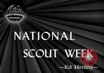 Image of National Scout Week New York United States USA, 1945, second 4 stock footage video 65675056702