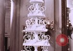 Image of Tricia's wedding cake Washington DC, 1971, second 9 stock footage video 65675057001