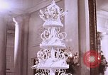 Image of Tricia's wedding cake Washington DC, 1971, second 10 stock footage video 65675057001