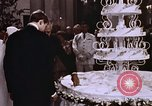 Image of Tricia's wedding cake Washington DC USA, 1971, second 9 stock footage video 65675057003