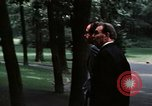 Image of Soviet leader Leonid Brezhnev Camp David Maryland USA, 1973, second 2 stock footage video 65675057031