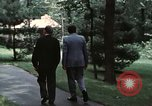 Image of Soviet leader Leonid Brezhnev Camp David Maryland USA, 1973, second 9 stock footage video 65675057031