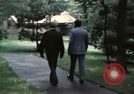 Image of Soviet leader Leonid Brezhnev Camp David Maryland USA, 1973, second 10 stock footage video 65675057031