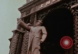 Image of Mao statue and arch Shanghai China, 1972, second 3 stock footage video 65675057344