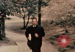 Image of Nixon in Flower Fort Park Hangchow China, 1972, second 5 stock footage video 65675057364