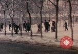 Image of Nixon motorcade in snow China, 1972, second 5 stock footage video 65675057373