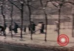 Image of Nixon motorcade in snow China, 1972, second 6 stock footage video 65675057373