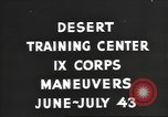 Image of IX Corps training center United States USA, 1943, second 3 stock footage video 65675057524