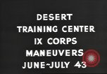 Image of IX Corps training center United States USA, 1943, second 4 stock footage video 65675057524