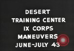 Image of IX Corps training center United States USA, 1943, second 6 stock footage video 65675057524