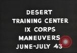Image of IX Corps training center United States USA, 1943, second 7 stock footage video 65675057524