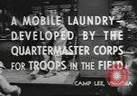 Image of mobile laundry Maryland United States USA, 1942, second 6 stock footage video 65675057536