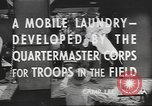 Image of mobile laundry Maryland United States USA, 1942, second 7 stock footage video 65675057536