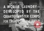 Image of mobile laundry Maryland United States USA, 1942, second 8 stock footage video 65675057536