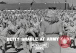 Image of Betty Grable at Army Camp Pacific Theater, 1942, second 3 stock footage video 65675057630