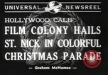 Image of Hollywood Christmas parade Hollywood Los Angeles California USA, 1940, second 1 stock footage video 65675057680