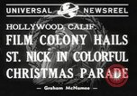 Image of Hollywood Christmas parade Hollywood Los Angeles California USA, 1940, second 2 stock footage video 65675057680