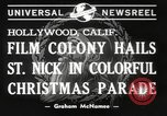 Image of Hollywood Christmas parade Hollywood Los Angeles California USA, 1940, second 4 stock footage video 65675057680