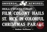 Image of Hollywood Christmas parade Hollywood Los Angeles California USA, 1940, second 5 stock footage video 65675057680