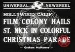 Image of Hollywood Christmas parade Hollywood Los Angeles California USA, 1940, second 6 stock footage video 65675057680