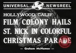 Image of Hollywood Christmas parade Hollywood Los Angeles California USA, 1940, second 7 stock footage video 65675057680