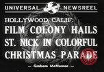 Image of Hollywood Christmas parade Hollywood Los Angeles California USA, 1940, second 8 stock footage video 65675057680