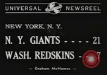 Image of Giants versus Redskins New York United States USA, 1940, second 4 stock footage video 65675057683