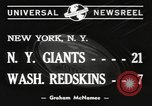 Image of Giants versus Redskins New York United States USA, 1940, second 5 stock footage video 65675057683
