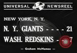 Image of Giants versus Redskins New York United States USA, 1940, second 6 stock footage video 65675057683