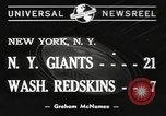 Image of Giants versus Redskins New York United States USA, 1940, second 7 stock footage video 65675057683