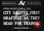 Image of draftees Philadelphia Pennsylvania USA, 1940, second 1 stock footage video 65675057686