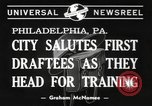 Image of draftees Philadelphia Pennsylvania USA, 1940, second 3 stock footage video 65675057686