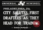 Image of draftees Philadelphia Pennsylvania USA, 1940, second 4 stock footage video 65675057686