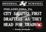 Image of draftees Philadelphia Pennsylvania USA, 1940, second 5 stock footage video 65675057686